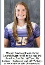 Meghan Cavanaugh America East Rookie of the Year